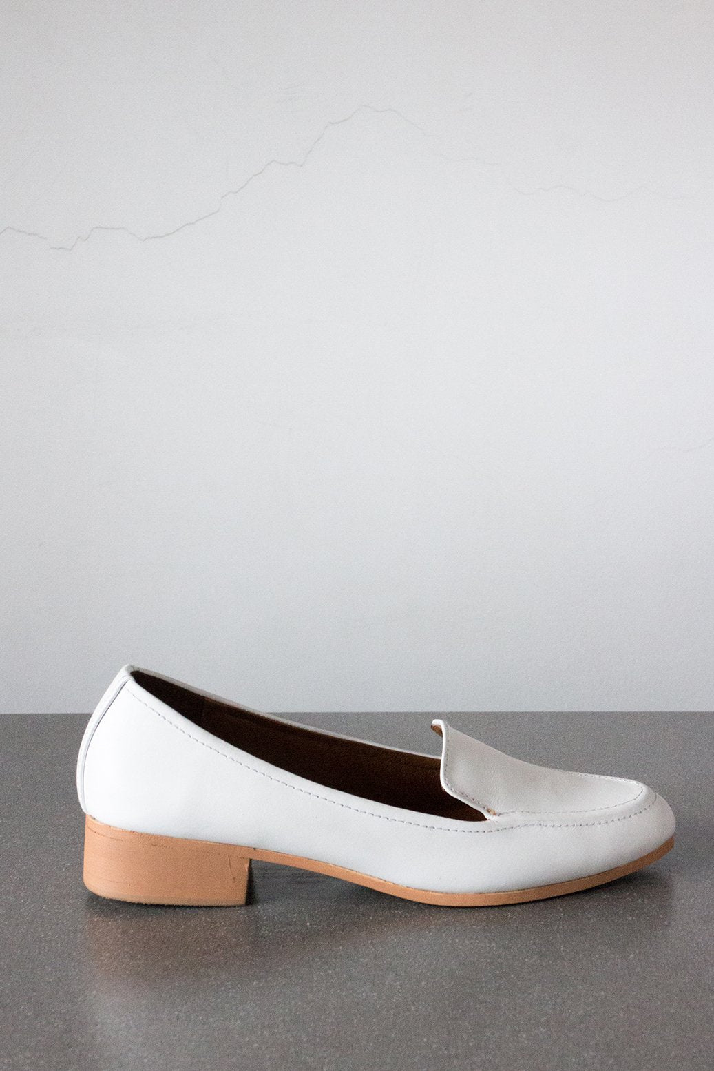 Modern Loafer in White (size 5)