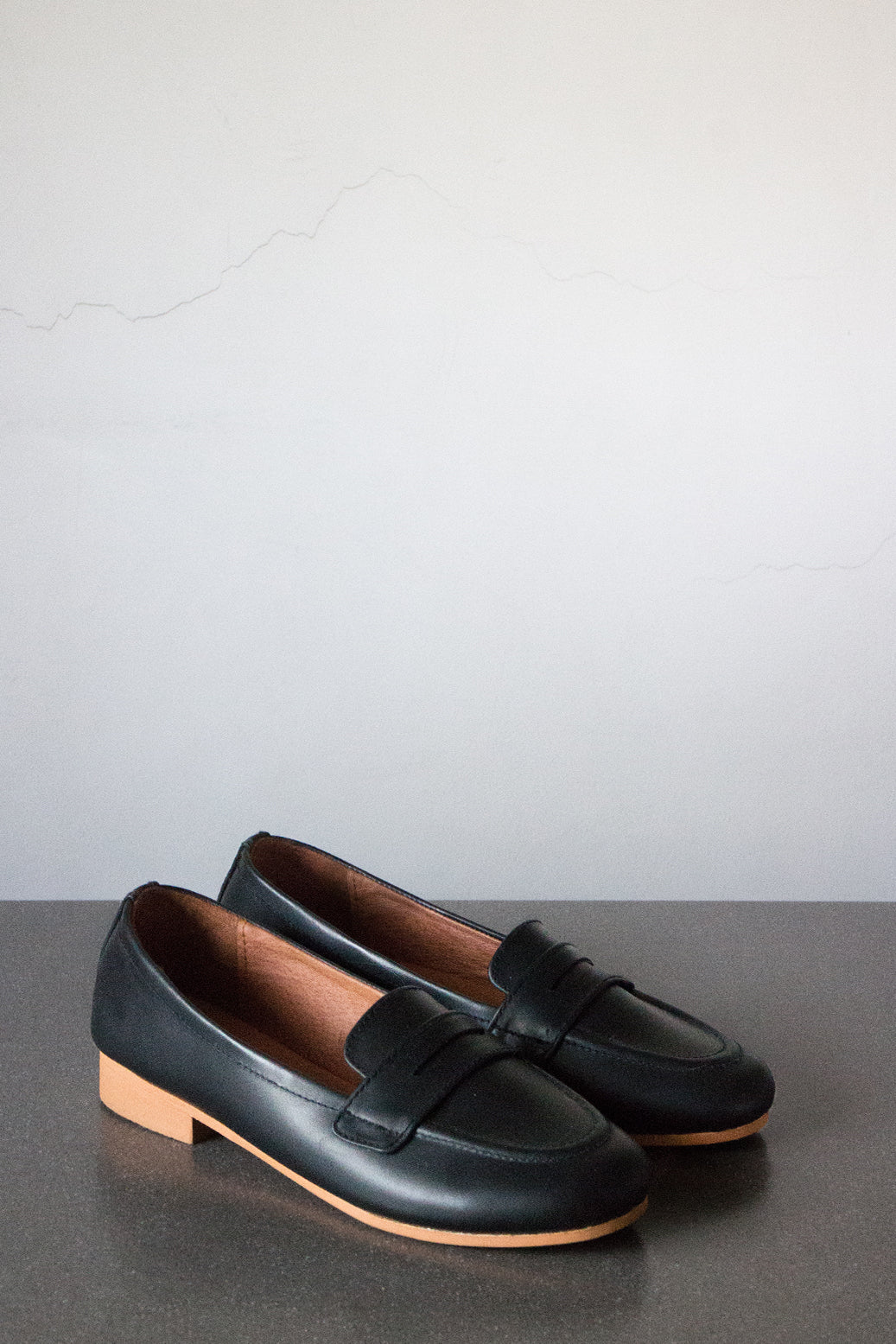 The Penny Loafer in Black - andanté, loafers - loafers, loafers leather footwear