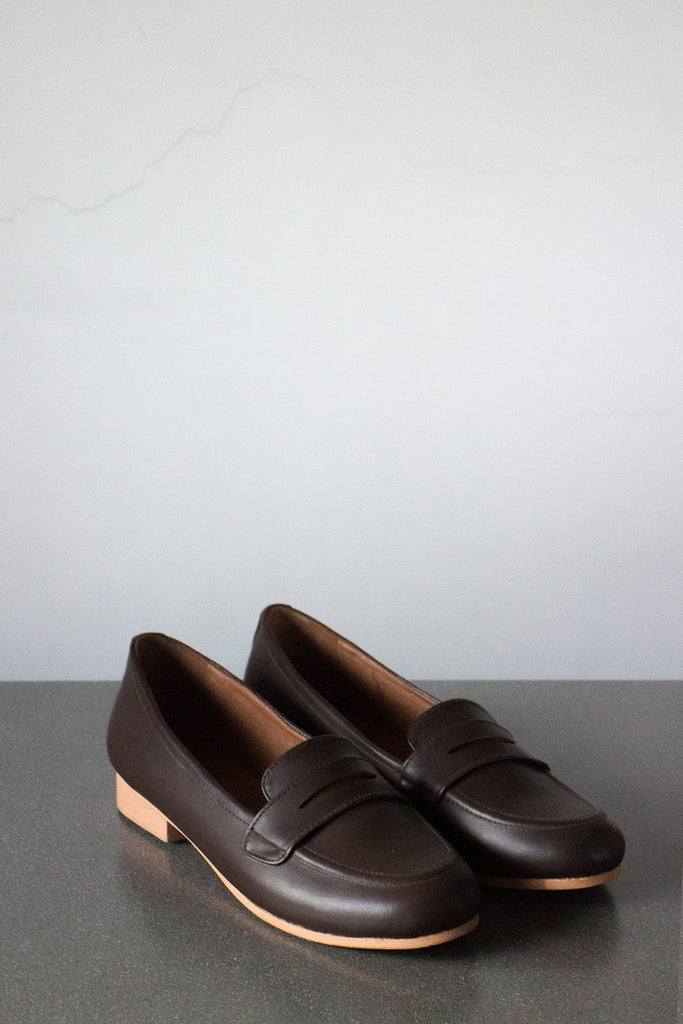 The Penny Loafer in Dark Brown - andanté, loafers - loafers, loafers leather footwear