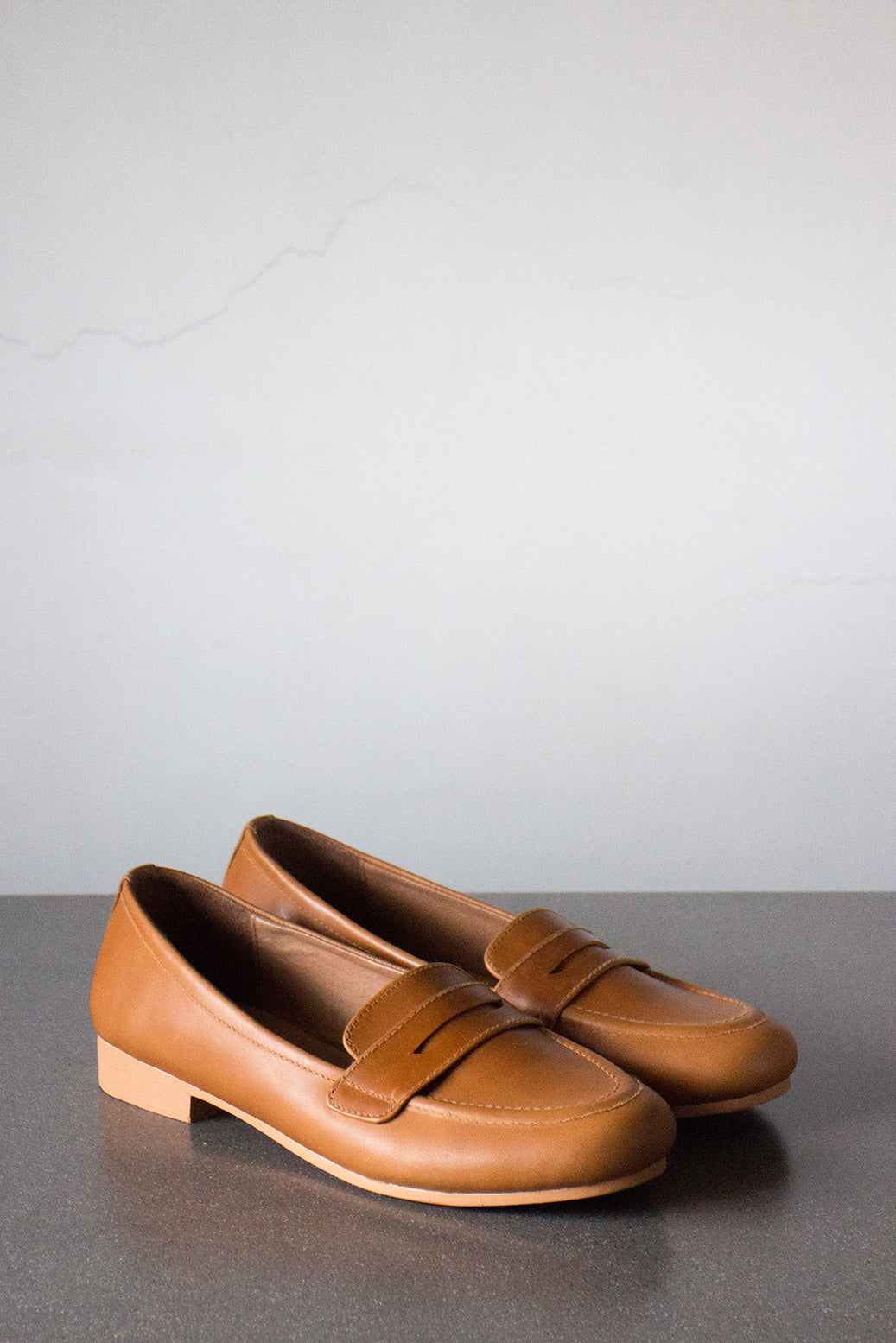 The Penny Loafer in Tan - andanté, loafers - loafers, loafers leather footwear
