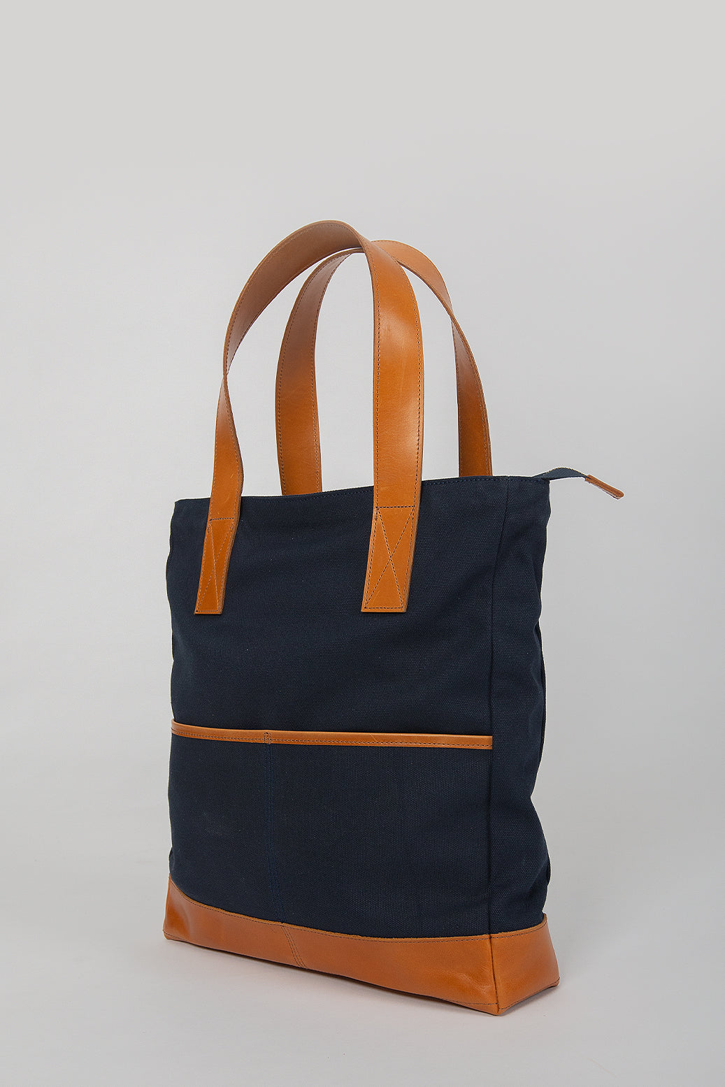 The Porter Tote in Navy - andanté, bags - loafers, bags leather footwear