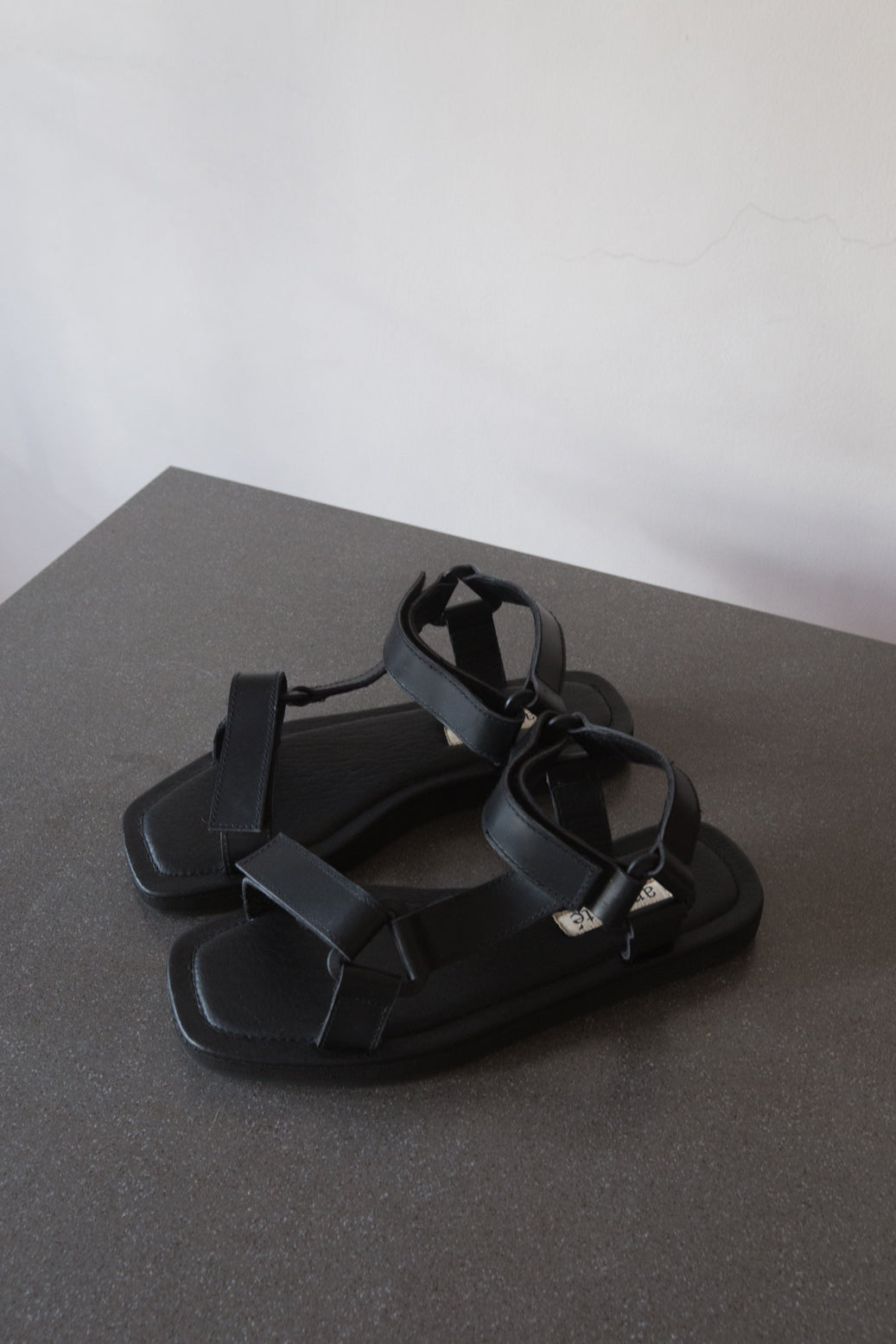 The Sportif Sandal in Black - andanté, sandals - loafers, sandals leather footwear