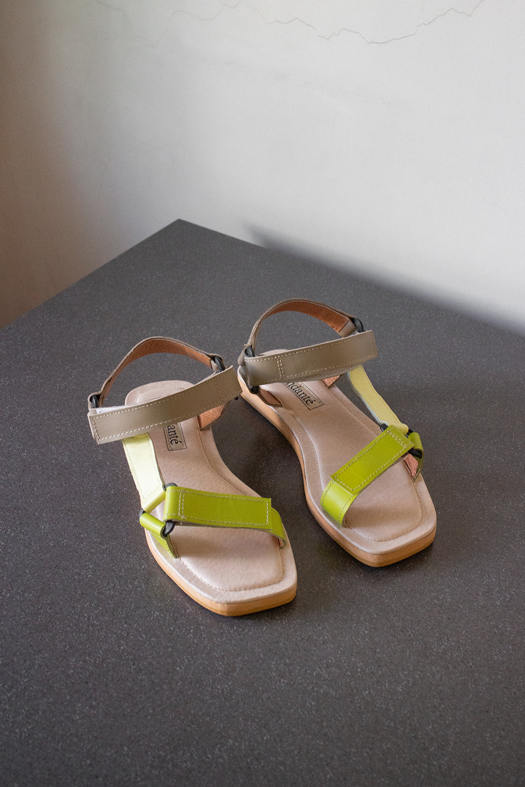 The Sportif Sandal in Mojito - andanté, sandals - loafers, sandals leather footwear