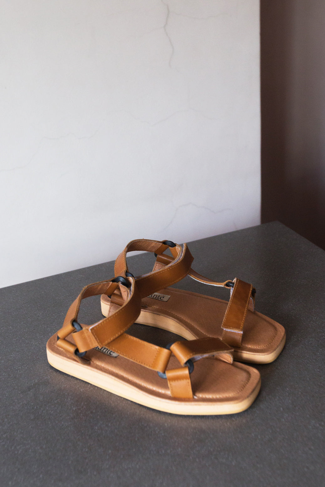 The Sportif Sandal in Tan - andanté, sandals - loafers, sandals leather footwear