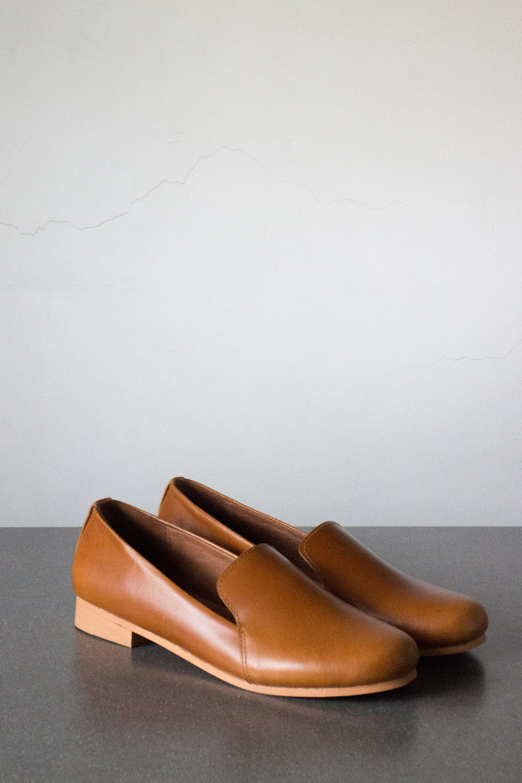 The Smoking Loafer in Tan - andanté, loafers - loafers, loafers leather footwear