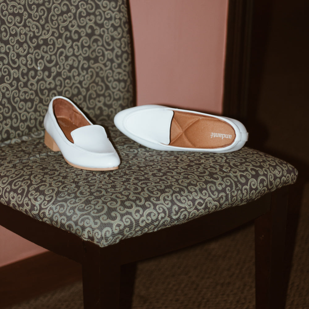 The Modern Loafer in White