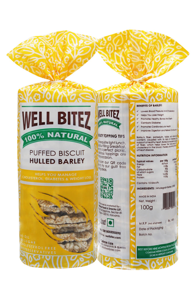Well Bitez Puffed Barley Healthy Biscuit