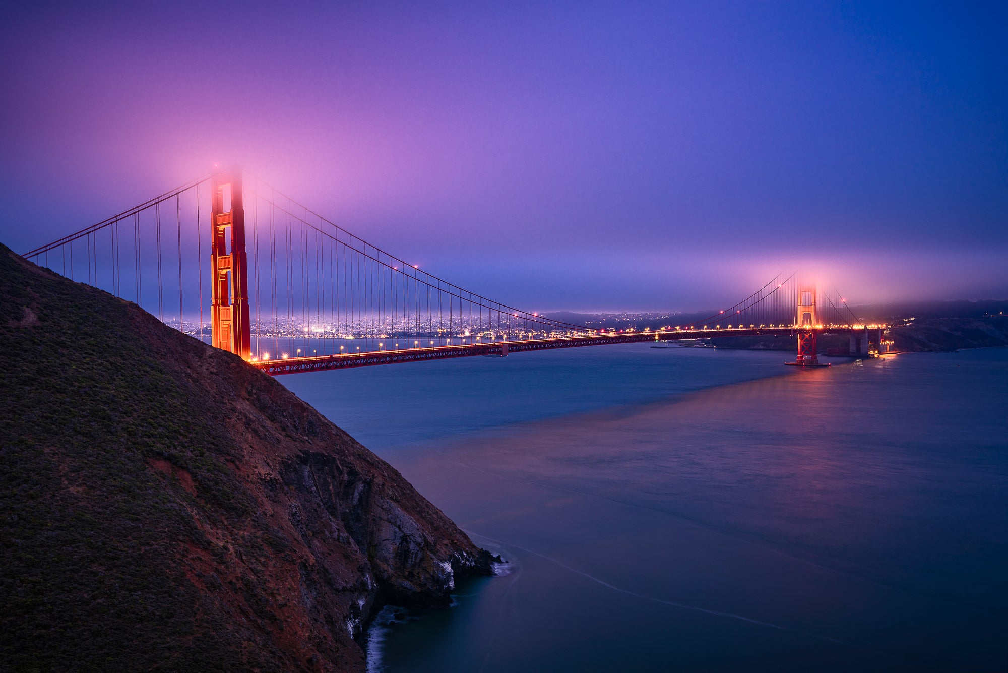 Golden-Gate-Bridge-San-Francisco-Nightscape-USA-Mark-Hannah-Photography