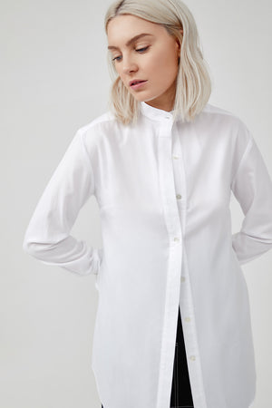 COLLARLESS SHIRT