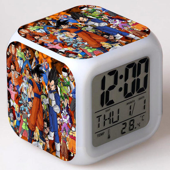 DBZ Characters Clock