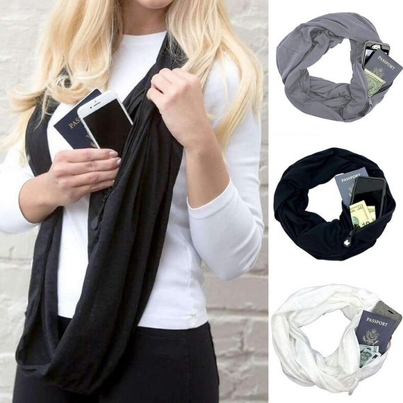 CONVERTIBLE POCKET INFINITY SCARF