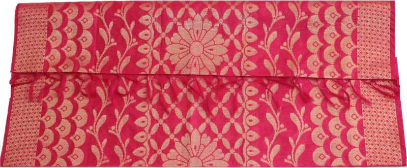 Manurath Poly Silk Floral Print Salwar Suit Material  (Unstitched)