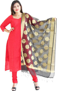 MANURATH Art Silk Solid Salwar Suit Material  (Unstitched)