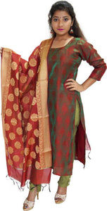 MANURATH Salwar and Dupatta Material  (Unstitched)