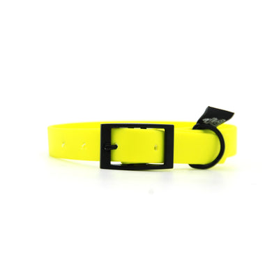 Collare in Biothane 20mm Giallo Fluo regolabile con fibbia in alluminio - Collari in Biothane  - Connecto.dog