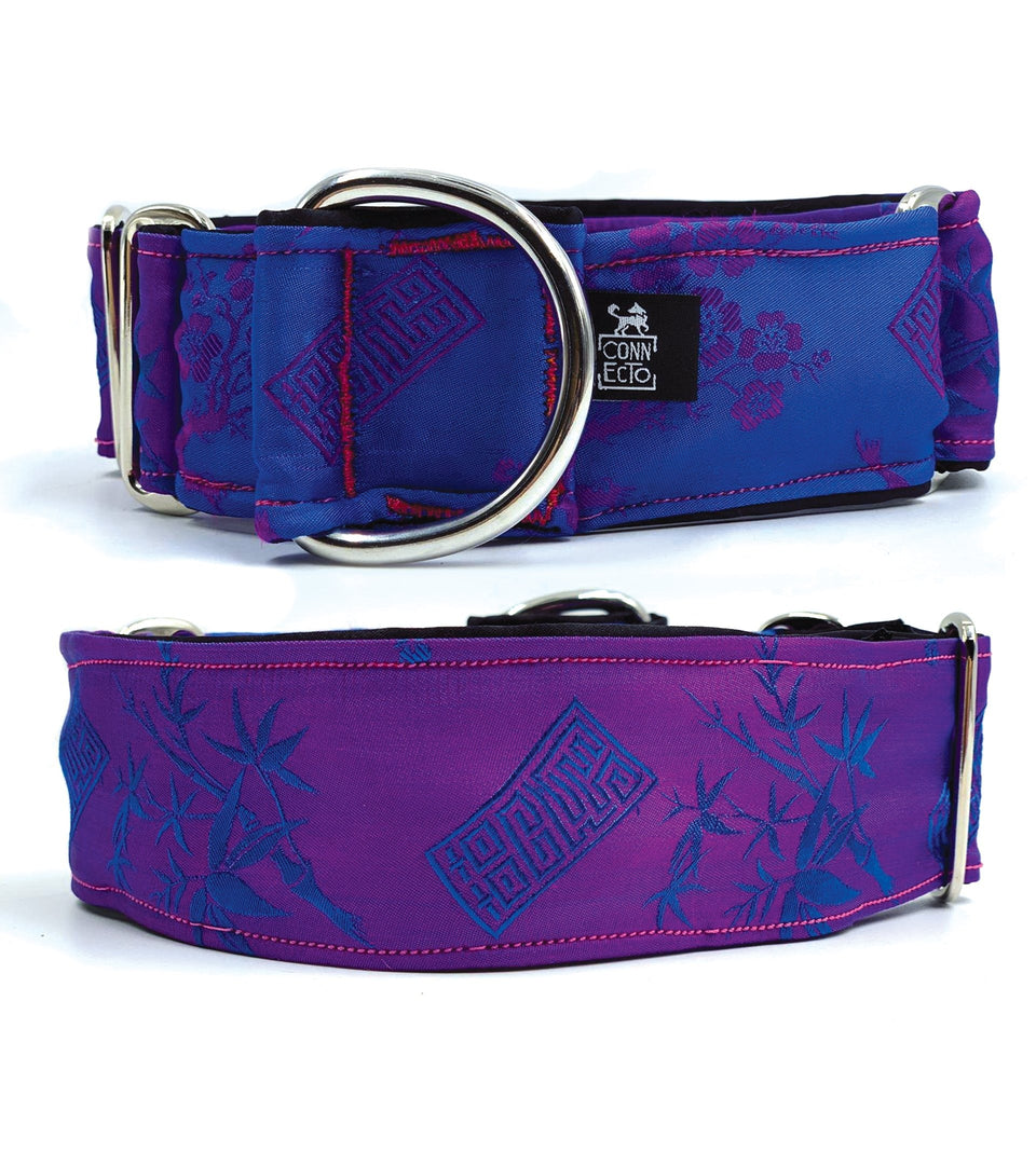 Collare martingala per levrieri Shades of the blue lagoon - Martingale  - Connecto.dog