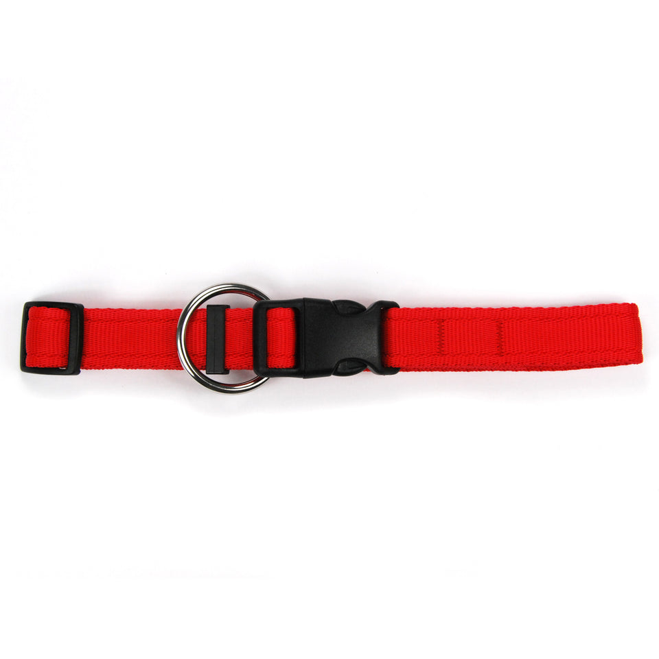 Collare per cani rosso in polipropilene cushion - Connecto.dog