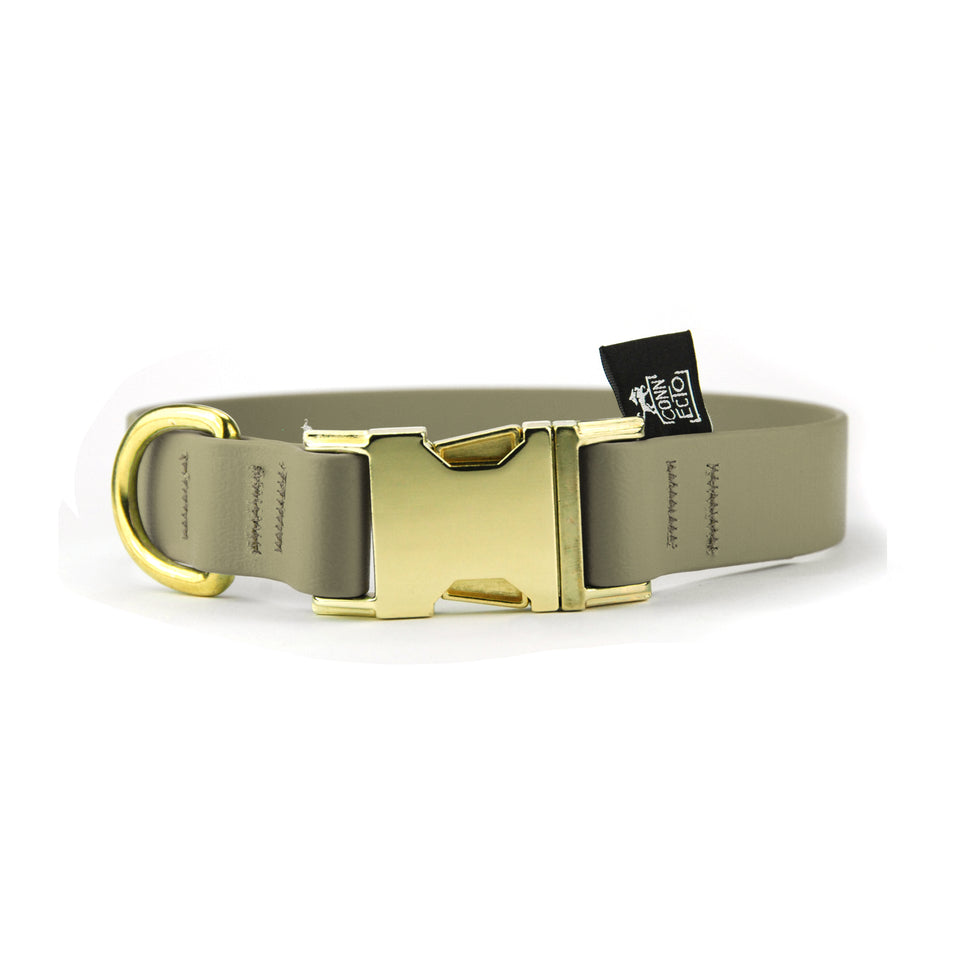 Collare per cani fisso in Biothane® Khaki - Collari in Biothane  - Connecto.dog