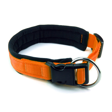 Collare per cani con imbottitura in neoprene Arancione – Yosemite Collection - Collare Neoprene  - Connecto.dog