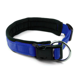 Collare per cani con imbottitura in neoprene Blu Elettrico – Yosemite Collection - Collare Neoprene  - Connecto.dog