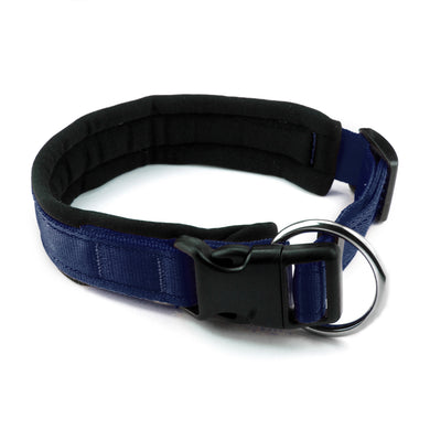 Collare per cani con imbottitura in neoprene Blu Navy – Yosemite Collection - Collare Neoprene  - Connecto.dog