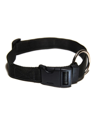Journey - Collare per cani nero in tubular nylon - Collari Journey  - Connecto.dog