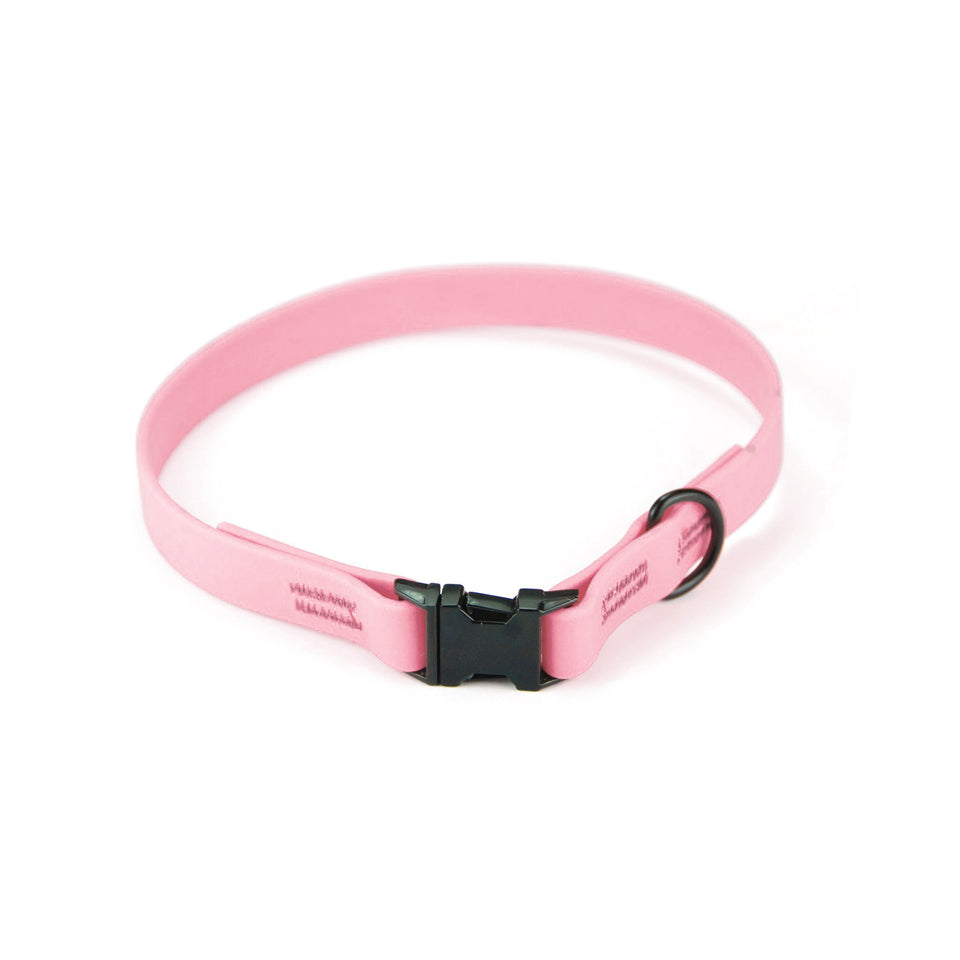Collare per cani fisso in Biothane® Rosa Baby - Connecto.dog