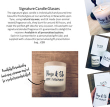 "NEW! - Personalised Fragranced Candle with Gift Box & Bag / 18 ""Statements"" to choose from"