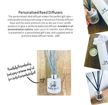 "NEW! - Personalised Reed Diffuser with Gift Box & Bag / 18 ""Statements"" to choose from"