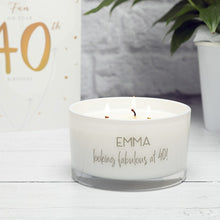 Personalised Candle - Three Wick