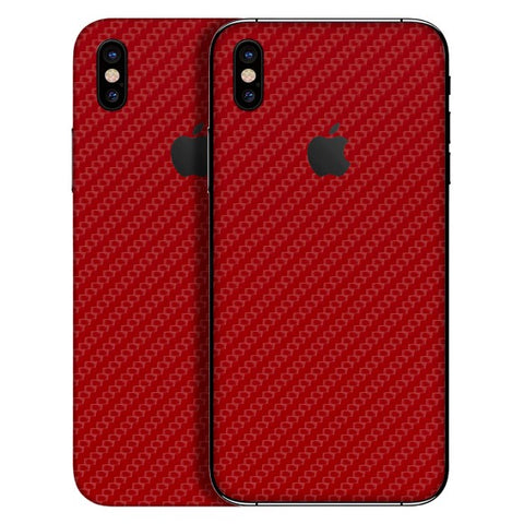 iPhone X - 3D Carbon Rot - Handy-werk.at