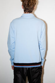 Blue sweat with heavy zip