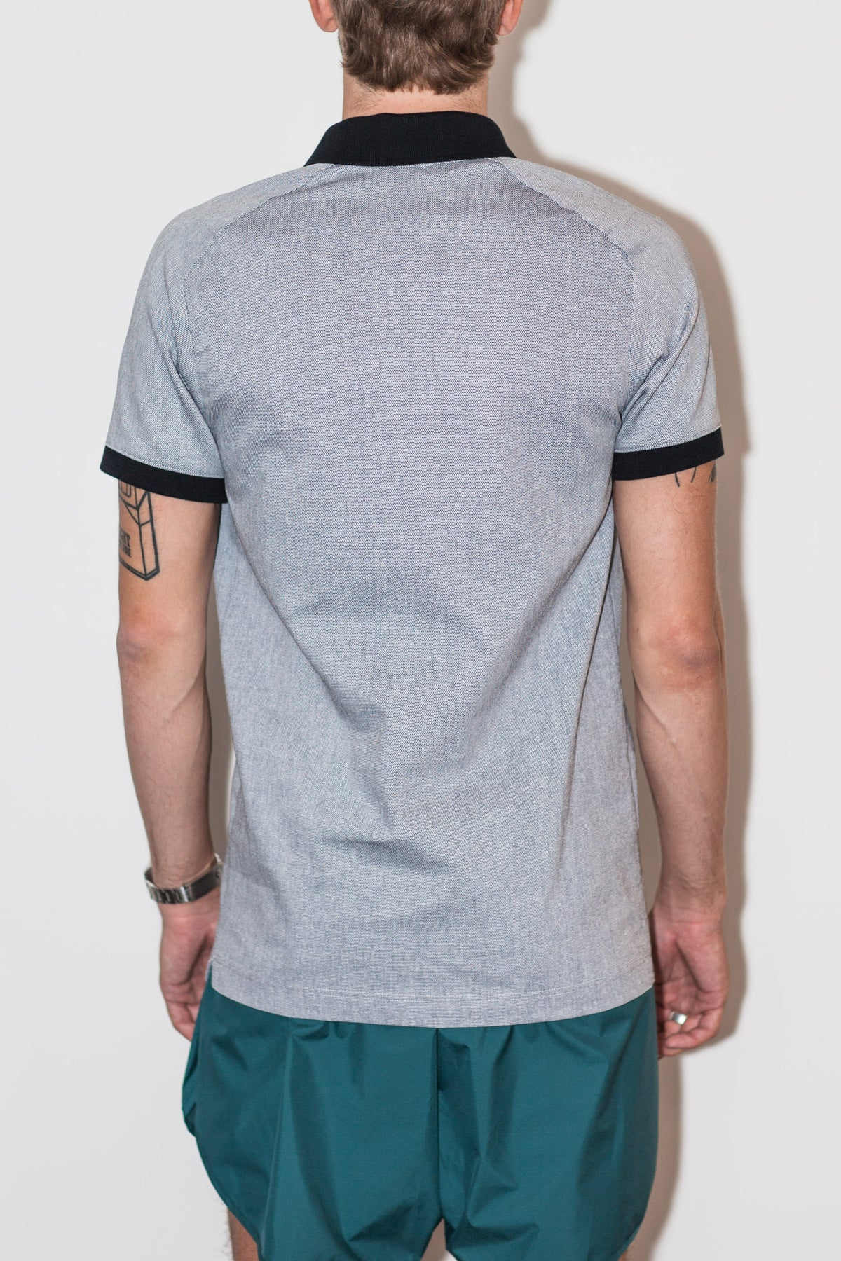 Raglan polo with front opening