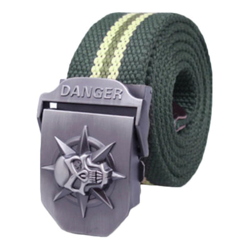 Men's Tactical Canvas knitted Automatic Belt