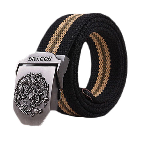 Dragon Canvas Knitted Belt
