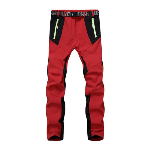 Inner Fleece Patchwork Design Camping Trousers