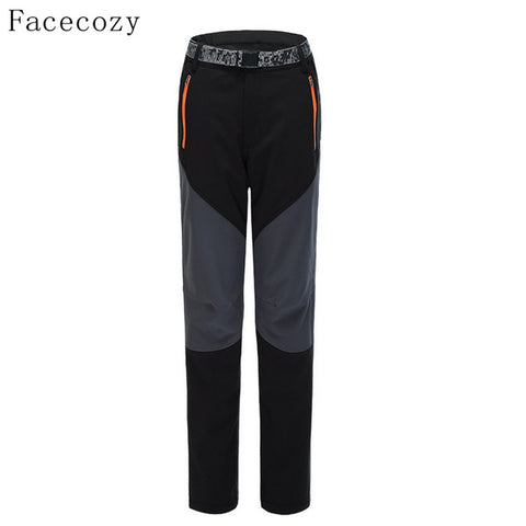 Outdoor Inner Fleece Hiking Softshell Pants