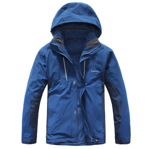 Waterproof Two Sets Fleece Hiking Jackets