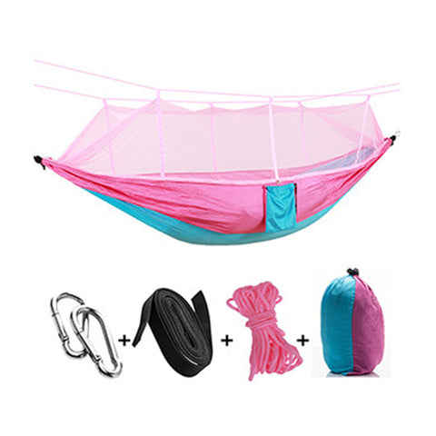 Facecozy Outdoor Parachute With Mosquito Net Hammock