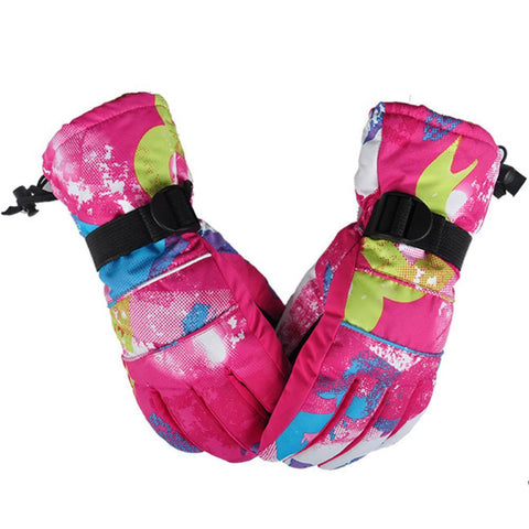 Women Winter Skiing Fleece Gloves