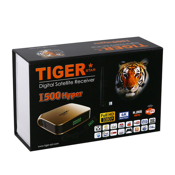 Tigerstar i500hyper with two one year subscriptions Royal TV and Empire TV - GreatBee