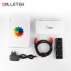 Leadcool TV box with one year QHDTV full European channels Remote control Power supply HDMI Cable  included - GreatBee