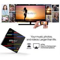 New H96Max+Smart TV Box Android * Quad-Core 4k 4GB 64GB Wifi HD RK3328 Media player - GreatBee