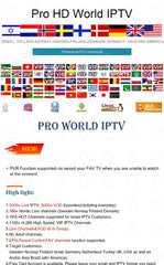 Promotion Very special price Pro HD  IPTV World PRO 5000 channels PVR fuction supported to record your FAV TV - GreatBee