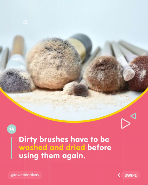 Picture of dirty makeup brushes