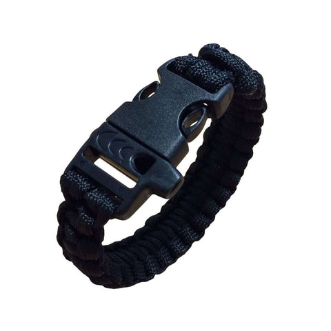 Paracord survival bracelet - Black