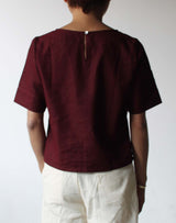 KUPU - Relaxed Shirt Burgundy Red