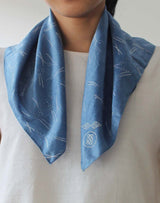 SOJOURNER - Silk-Cotton Bandana - Grain