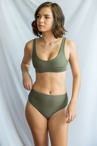 LILY TOP (Olive Green / Hazelnut)