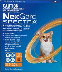 Nexgard Spectra 3 tablets, The Dogs Stuff